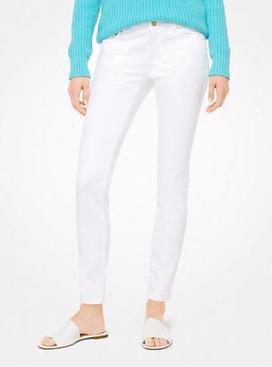 MICHAEL Michael Kors MK Selma Stretch-Cotton Skinny Jeans - White - Michael Kors
