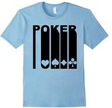Men's Retro 1970's Style Playing Card Suits Silhouette Poker Shirt Small