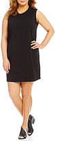 Eileen Fisher Plus Crew Neck Knee Length Tank Dress
