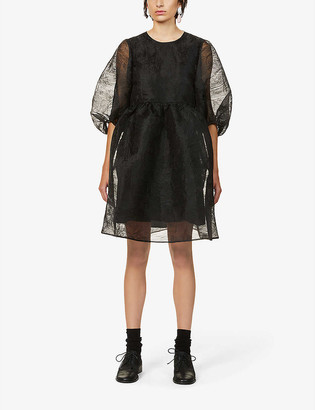 Cecilie Bahnsen Mabel abstract-patterned organza mini dress