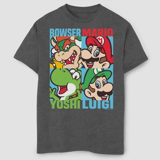 Boys' Super Mario Bros Character Collage Graphic T-Shirt -