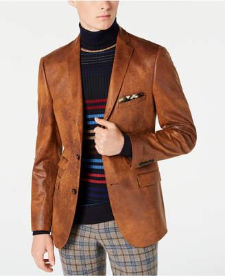 Paisley & Gray Men Slim-Fit Vegan Leather Blazer