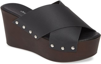 Charles by Charles David Charles David Studded Leather Platform Wedges -Fiji