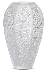 Lalique Sakura Clear Vase, Large