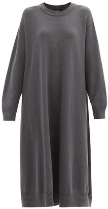 eskandar Oversized Cashmere Midi Dress - Grey