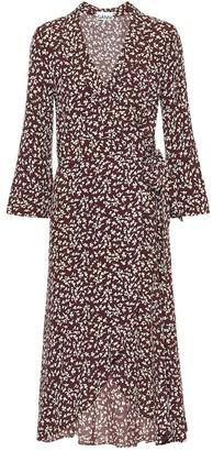 Ganni Floral crApe midi dress