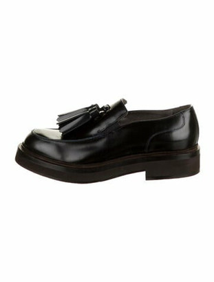 Brunello Cucinelli Patent Leather Tassel Accents Oxfords Brown