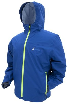 Frogg Toggs Java Toadz 2.5 Waterproof Breathable Jacket, Mens, Navy/Lime Green Zips, Size Large