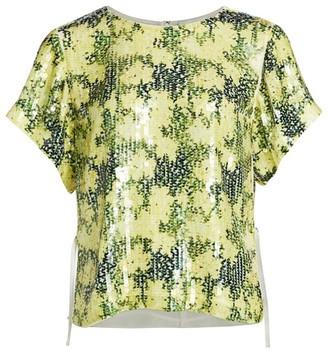 3.1 Phillip Lim Daisy Print Sequin T-Shirt