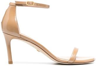 Stuart Weitzman Amelina patent-leather sandals