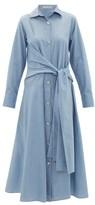 Palmer Harding Palmer//Harding Palmer//harding - Julia Tie-waist Cotton Shirt Dress - Womens - Blue