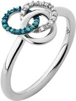 Links of London Treasured Sterling Silver, White & Blue Diamond Ring