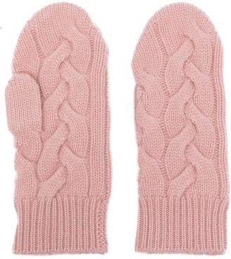 N.Peal Cable-Knit Cashmere Mittens