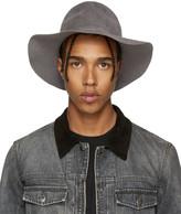 Diet Butcher Slim Skin Grey Felt Wide Brim Hat