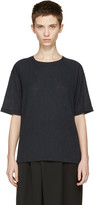 Issey Miyake Navy Twisted Jersey T-shirt