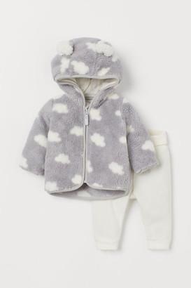 H&M 2-piece Fleece Set - Gray