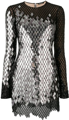 Balmain mirror sequin mini dress