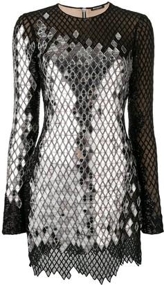 Balmain Mirror Sequin Mini Dress