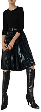 Marella Ironia Pleated Mixed Media Dress