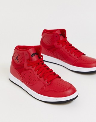 Jordan Nike Access trainers in red
