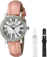 Invicta Women's 13967 Wildflower Dial Pink Leather Watch with 2 Additional Straps