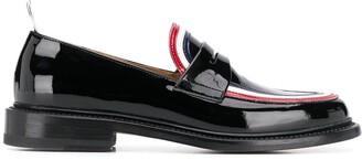 Thom Browne RWB-detail penny loafers