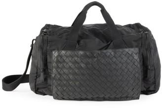 Bottega Veneta Leather & Nylon Packable Duffel Bag