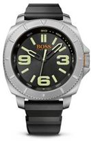 HUGO BOSS 1513107 Black Silicone Strap 3-Hand Quartz Sao Paulo Watch One Size Assorted-Pre-Pack