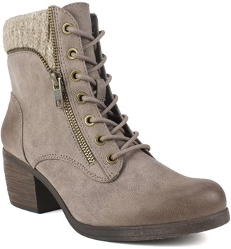 White Mountain Lace-Up Ankle Booties - Stuart