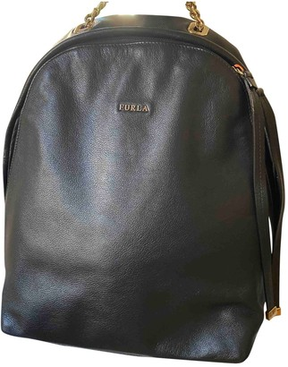 Furla Black Fur Backpacks