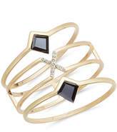 INC International Concepts Gold-Tone 3-Pc. Set Pavé & Jet Stone Bangle Bracelets, Created for Macy's