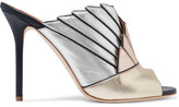 Malone Souliers Donna Metallic Leather Mules - Gold