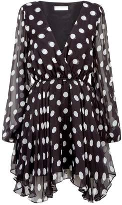 Caroline Constas Olena Polka Dot Dress