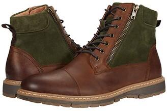 Stacy Adams Griffyth Cap Toe Boot (Black Crazyhorse/Black Suede) Men's Shoes