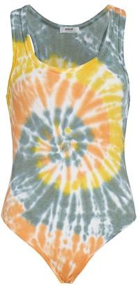 AGOLDE Ribbed Tie-Dye Bodysuit