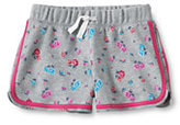 Classic Girls Plus Pattern Track Shorts-Cool Blue Geo Dot