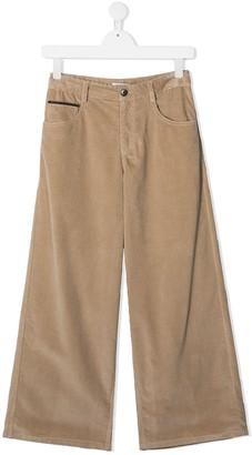 BRUNELLO CUCINELLI KIDS TEEN corduroy wide-leg trousers