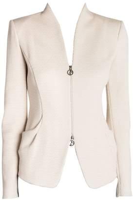 Giorgio Armani Rice Stitch Jersey Zip Jacket