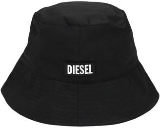 Diesel Logo Tag Tech Cotton Twill Bucket Hat