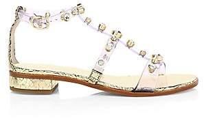 Sophia Webster Women's Dina Gem Embellished Clear Flat Sandals