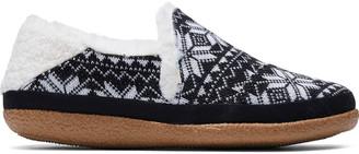 Toms Black Fair Isle Knit Women's India Slippers