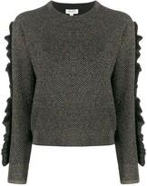 Kenzo metallized ruffled jumper