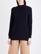 Mo&Co. Open-back knitted jumper