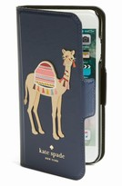 Kate Spade Camel Applique Iphone 7 Folio Case - Blue