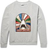 Saint Laurent Appliquéd Loopback Cotton-blend Jersey Sweatshirt