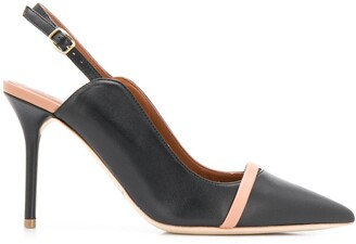 Malone Souliers two-tone 85mm sling back pumps