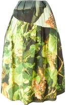 Simone Rocha printed full skirt - women - Cotton/Elastodiene/PBT Elite/Nylon - 8