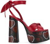 Saint Laurent tie knot platform sandals