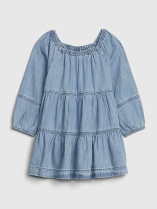Gap Baby Denim Tiered Dress