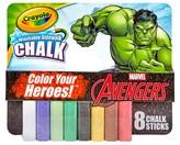 Crayola Sidewalk Chalk 8ct - Marvel's Avengers The Incredible Hulk